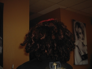 back combing dreads I did