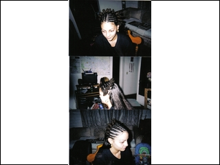 cornrows with bantu knots I did