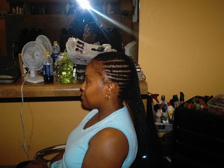 cornrow design I did