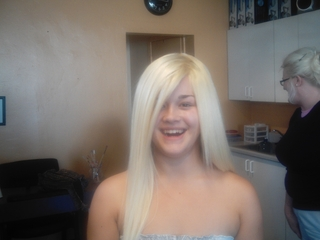 Bleach Blond Full Head Weave I did