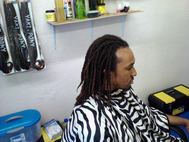 Interlocking Dreads: Interlocking dreadlocks I did