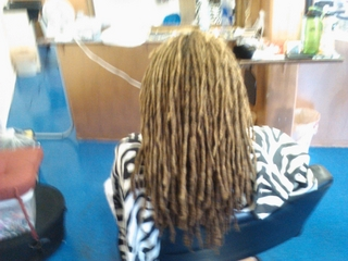 Interlocking locs I did