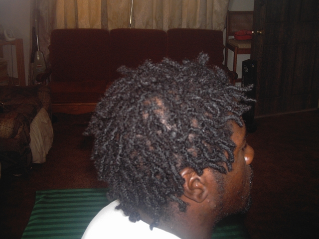 Interlocking Dreads: bradelocz (latch hooked) i did