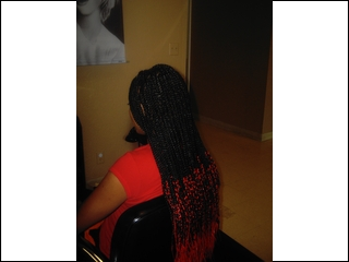 Casamas Braids With Red Tips I did