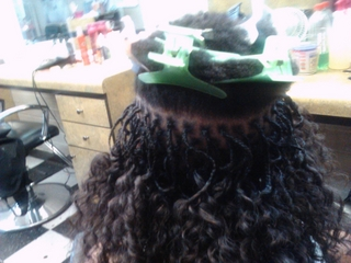 micro braids I did (half way)
