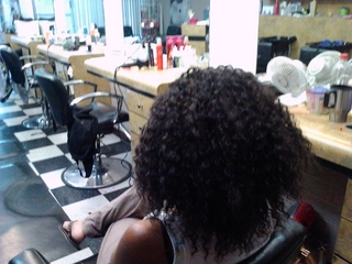 micro braids I did. the back