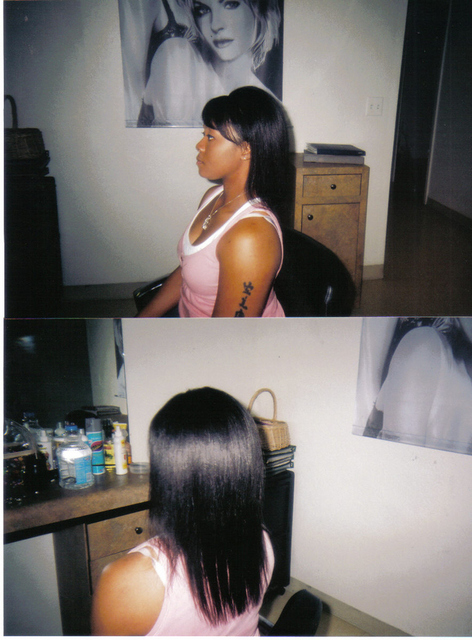 Sew In I did some hair was left out