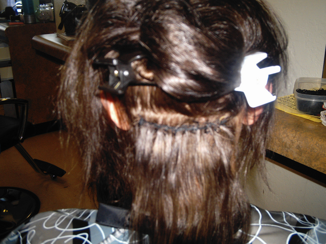 Inside sew on hair weave i did