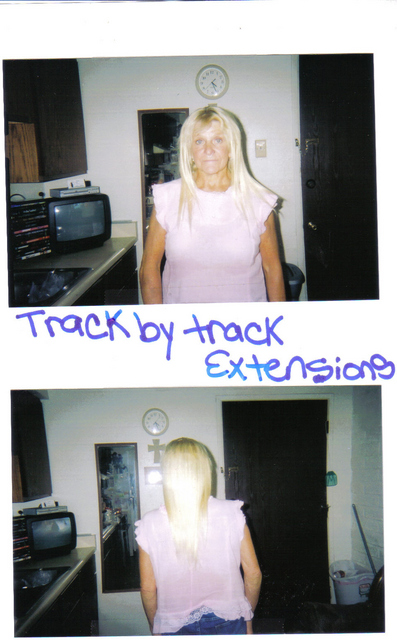 Weave (I Did) hair was left out in between each track