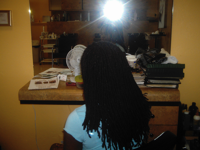 Dreadlocks Twist and Pin I did