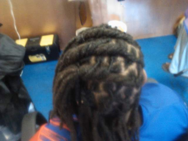 locs i did, flat twisted to the side