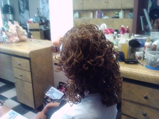 Dreadlocks Curled On Perm Rods I did