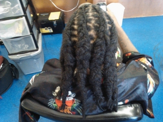 cornrow locs i did